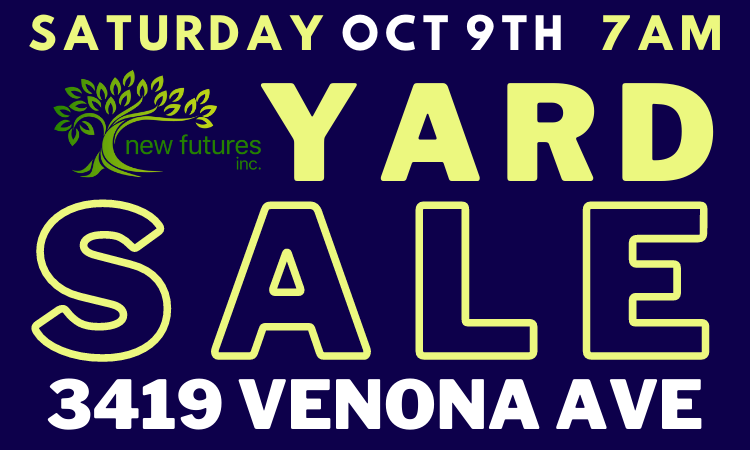 YARD SALE to support New Futures Homeless Shelter